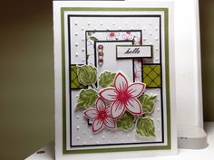 Gina K Flowers & Frames Card made by Pam with paper and dies from the Flowers and Frames kit.