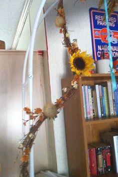 Sunflower arch swag