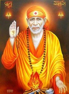 Blessing Sai Baba poster-reprint on inches) Parrot Wallpaper, Sai Baba Hd Wallpaper, Images Wallpaper, Clock Wallpaper, Blue Wallpapers, Sai Baba Pictures, Sai Baba Photos, God Pictures, Photo Background Images Hd