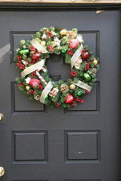 DIY Sparkly Christmas wreath