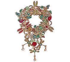 Kirks Folly Dragonfly Dreams Christmas Wreath Pin