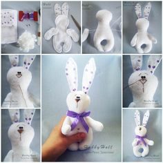 Here is a nice DIY tutorial to show you how to make a felted bunny. Isn't it adorable? It's so soft to touch for the little hands. It's easy to make and requires just somesewing. You can use different kinds of fabrics and ornaments such as laces, beads, tutu, dress …