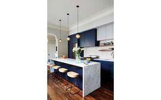 Móveis azul-marinho cozinha