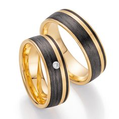 Carbon Trauringe Fischer Gold 22 1300/070
