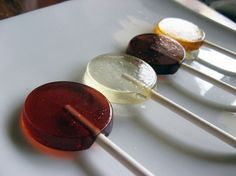 tea lollipops like<3  I make these w/ cold-fighting herbs, etc... experiment! They're awesome for sore throats & cold. - CL