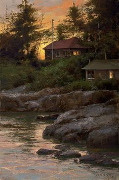 Donald Demers (American: 1956) - Evening Lights