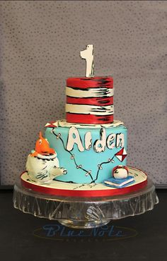 Dr Seuss Cat In The Hat 1st Birthday