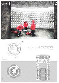 Concrete Design Competition 2014/2015 Anerkennung - GA183 - Gedächtnis der Arktis  Katharina Laekamp, Sofia Ceylan und Leonie Otten     Technische Universität Berlin