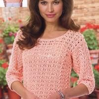 Crochet Georgia Peach Top