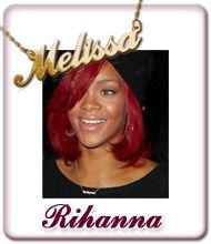 Rihanna Namen Schmuck