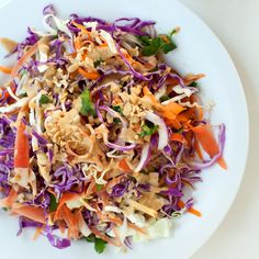 Confetti Cabbage Slaw with Peanut-Lime Dressing | Food & Wine