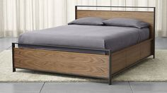 This is the exact Storage Bed I want.  Seriously.   Bowery Queen Storage Bed   Crate and Barrel