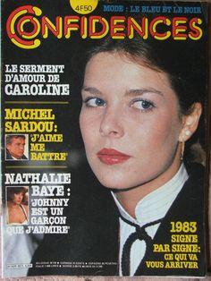 Confidences N°1825 (26/11/1982) Caroline de Monaco - M.Sardou - Nathalie Baye - | eBay