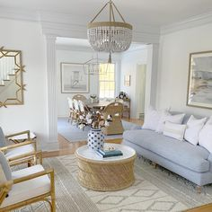 Admirable Coastal Living Room Decor Ideas Perfect For Summer - Coastal style is increasingly becoming more popular than ever because of its versatility. It also has a casual savoir-faire feel that will delight hom. Coastal Living Rooms, Home Living Room, Living Room Furniture, Living Room Decor, Coastal Cottage, Coastal Homes, Beach Living Room, Coastal Interior, Modern Interior