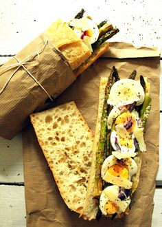 Spring Sandwich: Aspargus, Egg and Parmesan