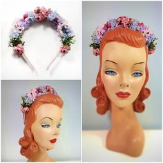 "Vintage flower headband ""Charlotte"" from the collection Now available at my etsy-shop (link in bio) Boho Fashion, Vintage Fashion, Hat Making, Headpieces, Vintage Flowers, Flower Crown, Charlotte, My Etsy Shop, Princess Zelda"