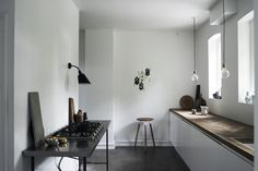 The kitchen of Jonas Bjerre-Poulsen–a partner in the Copenhagen firm Norm Architects.