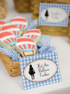 Wizard of Oz Birthday Party... Hot Air Balloon Cookies