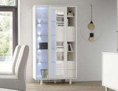 Vaisselier design blanc laqué FLAVIA