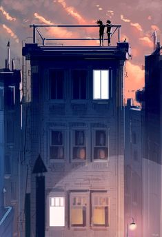 We met on the rooftop. #pascalcampion