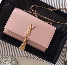 25d4e93b75c03 A moment of appreciation for this beautiful blush pink YSL shoulder bag  please!