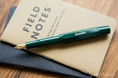 Kaweco Classic Sport Green fountain pen is a great travel companion because it fits in your pocket!