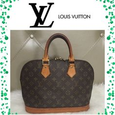 Authentic Louis Vuitton Alma Bag This LV Alma bag is in very good preowned condition. Shows normal wear with no tear, rips or stains. Clean inside and out. Some light water spots on the bottom of the bag. There are some scratches and light rubbing on the corners and edges of the bag. Darker patina on handles from use. No accessories included Louis Vuitton Bags Satchels