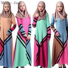 Turkish women clothing Abaya Muslim Dress pictures jilbab and abayas Fashion Geometric spell color Islamic robe musulmane dress Muslim Long Dress, Cheap Dresses, Summer Dresses, Islamic Clothing, Arab Clothing, Dress Robes, 4k Uhd, Dress Picture, Unique Fashion