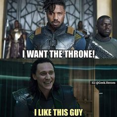 Who is a better villain of these two?? . Follow@comics_of_hell for more Marvel and DCcomics content!! . #marvel #dccomics #marvelart #marvelcomics #marveluniverse #marvelcosplay #cosplay #comics #comicart #marvelmemes #memes #troll #killmonger #erikkillmonger #goldenjaguar #blackpanther #loki #thor #throne #king #war #villains #marvelvillians