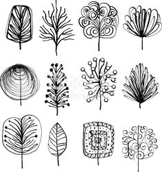 Drawing Doodles Sketches drawing stylized / cartoon trees - Lovely Leafs in cartoon style Doodle Drawings, Cartoon Drawings, Doodle Art, Cartoon Art, Cartoon Characters, Sgraffito, Doodles, Doodle Patterns, Design Lab