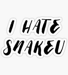 I hate snakeu Pegatina