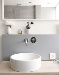 Gray White Bathroom | Remodelista