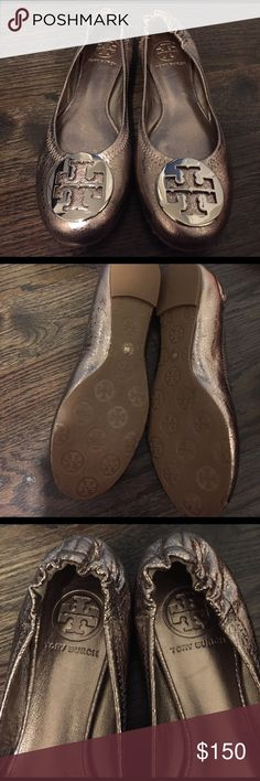 Tory burch flats size 6 Authentic brand new Tory Burch Reva flats size 6!!! Champagne color as seen in pic!!! Tory Burch Shoes Flats & Loafers