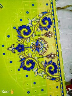 Cutwork Blouse Designs, Stylish Blouse Design, Fancy Blouse Designs, Bridal Blouse Designs, Diy Embroidery Designs, Embroidery Suits Design, Embroidery Works, Mirror Work Blouse Design, Maggam Work Designs