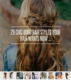 29 Chic Boho Hair #Styles Your Hair Wants Now ... → Hair #Bouffant