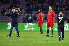 Cristiano Ronaldo Photos - Cristiano Ronaldo of Portugal looks on as a spectators enter the pitch during the  International Friendly match between Portugal v Netherlands at Stade de Geneve on March 26, 2018 in Geneva, Switzerland. - Portugal Vs. Netherlands - International Friendly