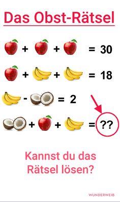 Findest du die Lösung zu diesem Obst-Rätsel?
