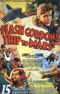 vintage movie poster:  flash gordons trip to mars 1938