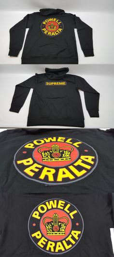 a24f221b6c77 Men 159067  Powell Peralta Supreme Black Hoodie Sweatshirt Medium - Medium  Weight Brand New -