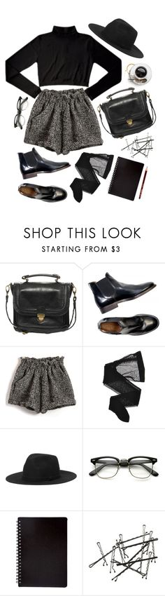 """""""Coffee shopping /read the description please :)"""" by cnline ❤ liked on Polyvore featuring Pieces, Chassè, Wolford and Monki"""
