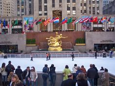 Rockafeller Center...ice skating