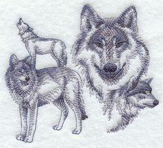 Sketched wolves