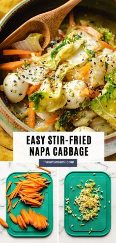 Stir-Fried Napa Cabbage with Quail Eggs is a savory Chinese cabbage stir-fry recipe that tastes sweet, extra juicy, and super easy to make! #cabbage #napacabbage #stirfry #asianrecipes #chineserecipes #vegetarianrecipes Paleo Meal Prep, Whole30 Dinner Recipes, Paleo Recipes Easy, Whole 30 Recipes, Asian Recipes, Real Food Recipes, Vegetarian Recipes, Vegetable Recipes, Stir Fry Napa Cabbage