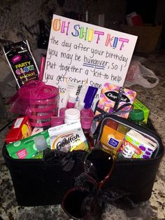 Hangover Kit 21st Birthday Presents Basket For Girls Fun 18th