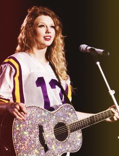 Sorry but she is super cool I know that conflicts with my jobros love but like a jersey and glitter guitar?