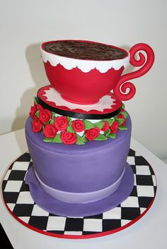 Mad Hatter Cake - Australias Biggest Morning Tea by Leonies Creations, via Flickr