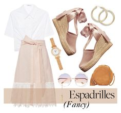 """Fancy Espadrilles"" by misspasadena ❤ liked on Polyvore featuring T By Alexander Wang, Miguelina, Tory Burch, Chloé, Jérôme Dreyfuss, Hermès and espadrilles"