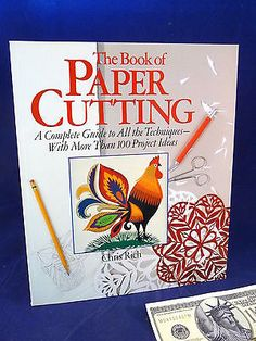 Paper Cutting Book Chris Rich Stencils Guide To Technique 100 Project Ideas Crafts:Art Supplies:Instruction Books & Media www.internetauctionservicesllc.com $24.99