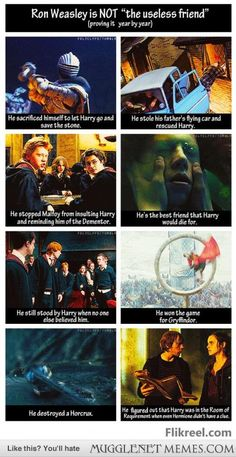 Okay, whoever thought Ron was USELESS, I totally disagree with you every which way.