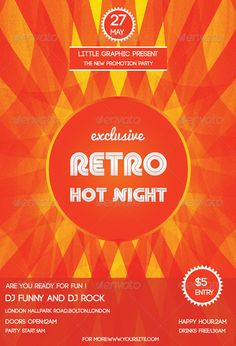 Vintage  Retro For Event  Party Flyer Templates  Vintage